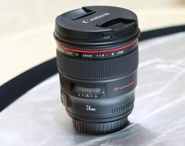 佳能 EF 24mm f/1.4L II USM   95新  行货  包装配件齐全