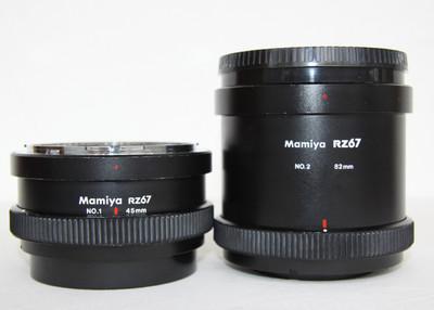 玛米亚 Mamiya RZ67用1号 2号 45mm 82mm 近摄环 两只
