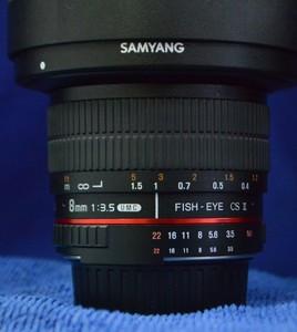 三阳8mm鱼眼镜头