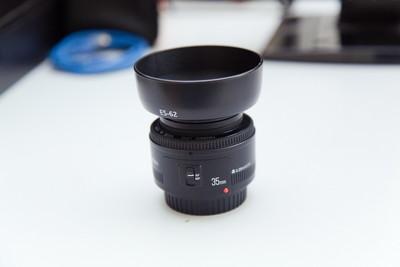 基本全新永诺 35mm f/2大光圈定焦头(佳能口)-天津面交