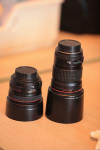 佳能 EF 50mm f/1.2L USM  , 佳能 EF 135mm f/2L USM