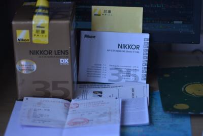 尼康AF-S35/1.8G定焦镜便宜出配件箱全