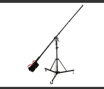 金贝 BM-185 专业大号 顶灯架 含配重轮子 悬臂 横杆灯架