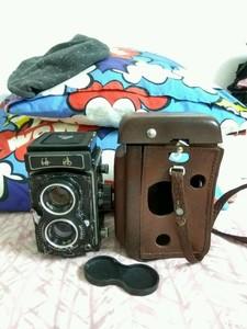 海鸥4B双反相机,带皮套