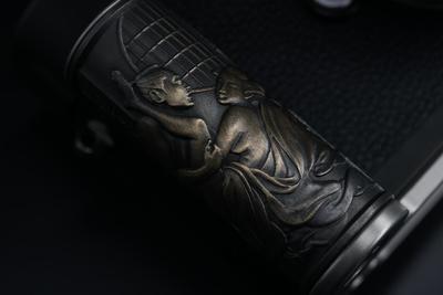 <预售>定制 Leica M系列黄铜浮世绘浮雕手柄套装