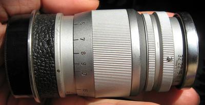 西德产M39口徕卡Leica Ernst Leitz Wetzlar Elmar 90 F4手动镜头