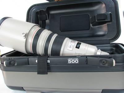 佳能 EF 500mm f/4L IS USM拍鸟大炮99新带箱子