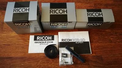 理光KR-10 35mm相机和2个镜头,如新,全包装,收藏?