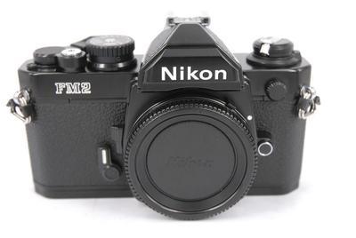 Nikon FM2 胶片单反相机机身,黑色.