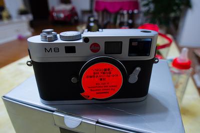自用徕卡M8 银色 包装齐全 成色好 超多附件套出