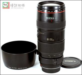 佳能 EF80-200/2.8L老黑镜头带原装ES-79Ⅱ遮光罩 带三脚架接环