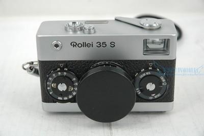 Rollei 35 S 旁轴胶片相机,银色.带手绳和皮套.