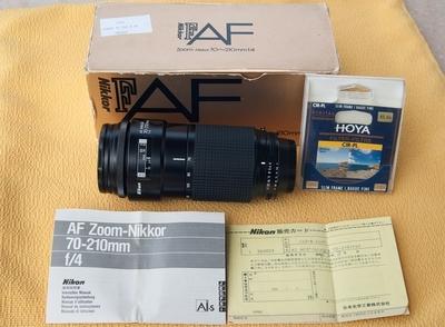 尼康70-210/4小小黑代原包装,代hoya62mm ci