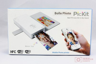 Bolle Photo PicKit 智能手机照片打印机 拍立得随身口袋相印机