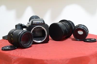 宾得645相机+75毫米+150毫米+俄罗斯45毫米移轴镜头