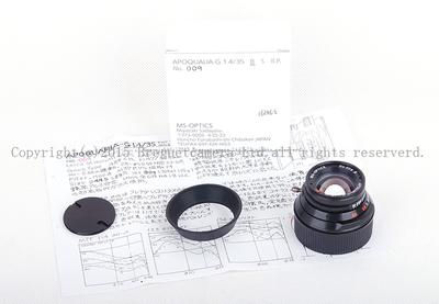 日本宫崎 35/1.4 APOQUARIA-G F. MC Leica M口 黑色超轻镜头#jp