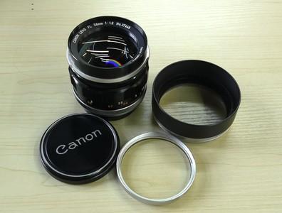 Canon/佳能 FL口 58/1.2 镜头 原厂遮光罩、UV镜
