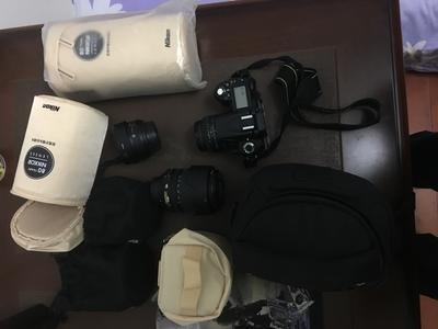 尼康 D90 含3个镜头,自用行货,包装票据齐全,快门5000左右