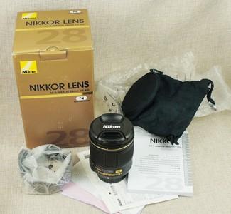 包顺丰 99新 尼康 AF-S 28/1.8 G 广角 带包装 遮光罩 实物拍摄