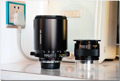 腾龙百搭接口 55B 500F8折返镜头,以及百搭口2X增距镜