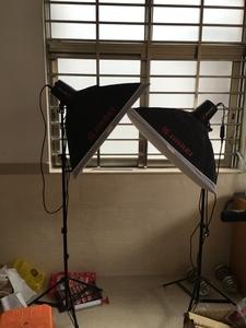 金贝250闪光灯柔光箱套装(3灯架+3柔光箱+3灯头)