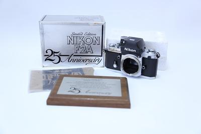 NIKON 尼康 F2A 25周年镶银纪念机 带包装盒