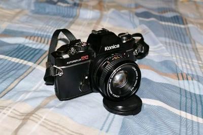 konica 柯尼卡TC胶卷单反相机带镜头50 1.8,成色新功能全复古