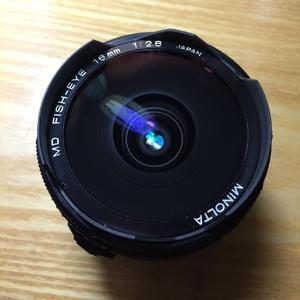 美能达 鱼眼镜头 Minolta 16 F2.8 MD镀膜