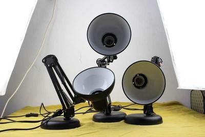 小型摄影灯座 可伸缩 圆座式 最高60cm