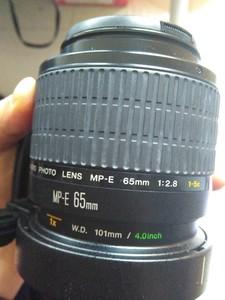 佳能65mm微距镜头,99成新