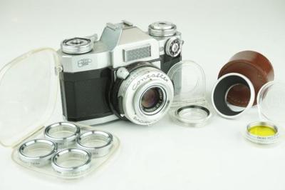 蔡司依康Contaflex超级单反蔡司天塞50毫米F2.8镜头和过滤器套件