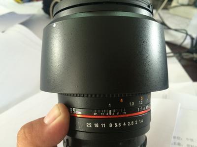 三阳85/1.4二代摄影头,索尼口,可以换美能达