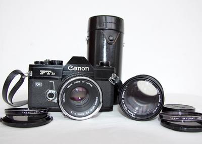 佳能 canon FTb+50 1.8+200 4 套机 胶片相机 带UV镜 背带镜头包