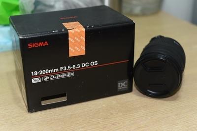 自用适马 18-200mm f/3.5-6.3 DC OS HSM(尼康口)出售