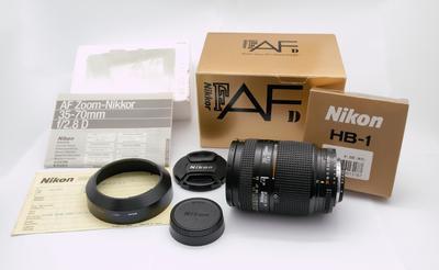 代友出珍藏的尼康AF 35-70/2.8 D镜头 全套原包装