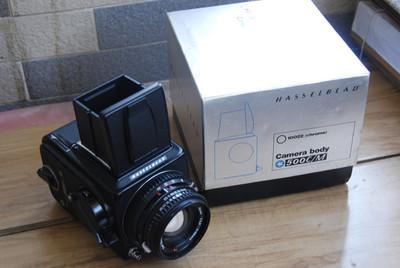 Hasselblad 500 C/M+CT80+新款腰屏取景器 套机