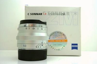 卡尔·蔡司  Sonnar T* 50mm f/1.5 ZM Silver(实价 不接刀)