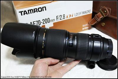 收腾龙 AF 70-200mm f/2.8 Di LD(IF)微距镜头(A001)佳能卡口