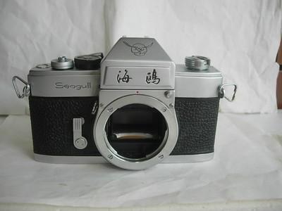 很新海鸥DF有海鸥图形金属制造单反相机,收藏使用