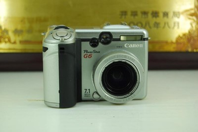 佳能 PowerShot G6 卡片机 数码相机 可置换 银色 旋转屏