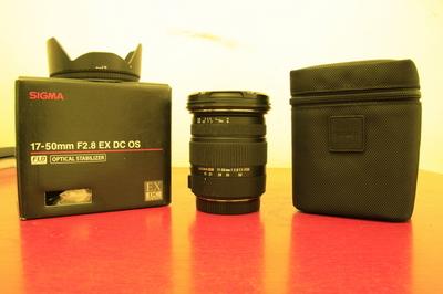 适马 17-50mm f/2.8 EX DC OS(佳能口)、佳能501.8二代