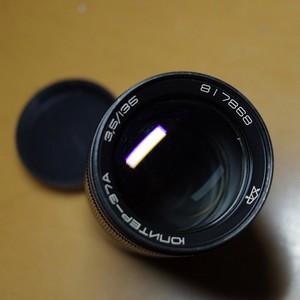 俄镜 尤比杰尔135mm/3.5 M42口 可转接微单和数码单反上使用