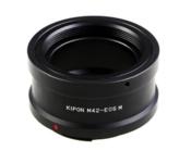 KIPON M42螺口镜头接EOS M口微单机身,M42-EOS M