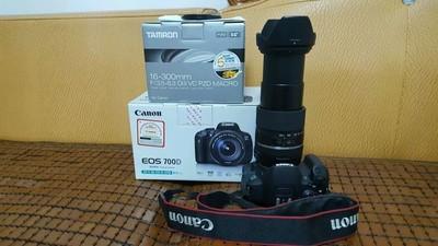 佳能700D及腾龙16-300广角长焦镜头一起转让,全套拍下送配件!