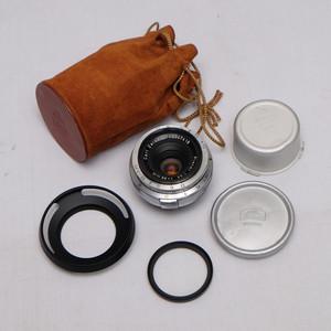 蔡司 carl zeiss planar 35/3.5 RF口 尼康s口 带原厂皮套 遮光罩
