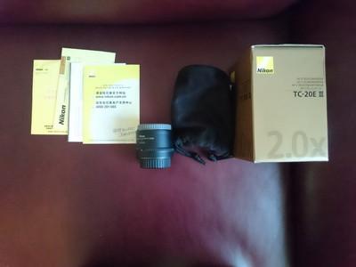 尼康Nikon增距镜, TC-20 E III 2倍增距镜。 国行。
