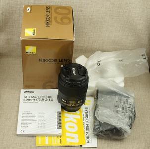 尼康 AFS 60/2.8 G 微距镜头 带包装 UV 包顺丰