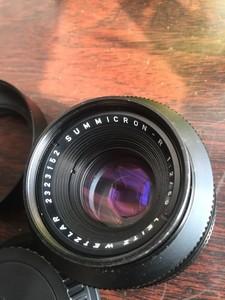 白用莱卡r50/2.0定焦镜头,带佳能转接环
