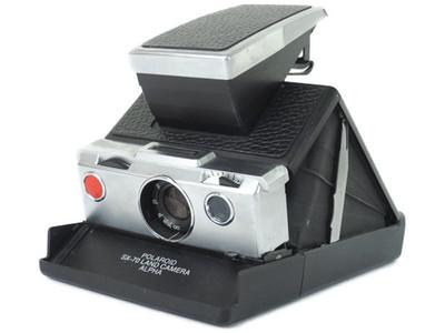 实际测试完动品 宝丽来 SX-70 LAND 相机α 黑色饰皮#jp17954