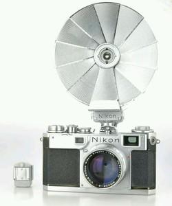 尼康NIKON S2专业级旁轴 5cm 1.4神头 原厂闪光灯